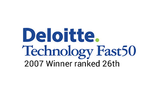 Deloitte Technology Fast 50 2007 Winner ranked 26th_Web Designers Belfast